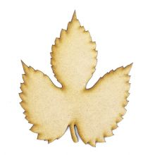 White Poplar Leaf cut from 3mm MDF, Craft Blanks, Shapes, Tags, Autumn Leaf